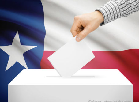 Texas election, ballot box