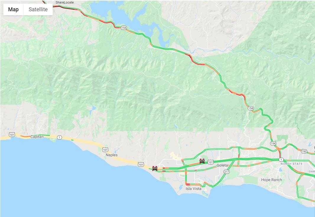 Alisal Fire road closure/detour map