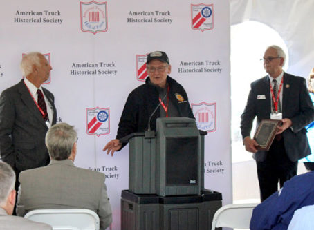 OOIDA's Todd Spencer speaks at American Trucking and Industry Leader Hall of Fame ceremony